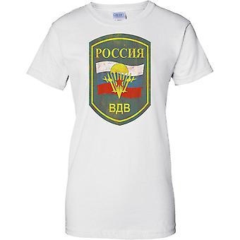 Russian Airborne Military Insignia - Elite Army Special Forces - Ladies T Shirt