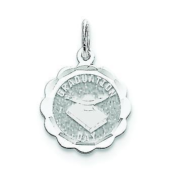 925 sterling sølv solid grave Bart graduering dag Disc Charm-. 9 gram