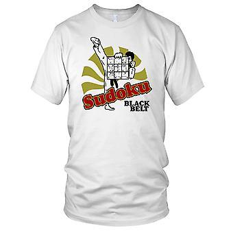 Sudoku zwarte gordel grappige dames T Shirt
