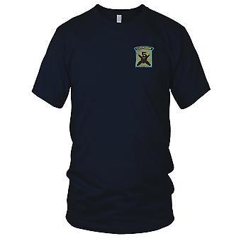 5 commando - gekruiste dolken - blauwe Pipe militaire insignes geborduurd Patch - Mens T Shirt