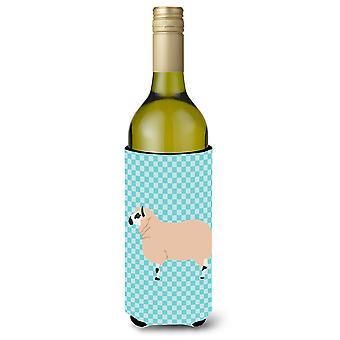 Kerry Hill schapen blauwe Check wijnfles Beverge isolator Hugger