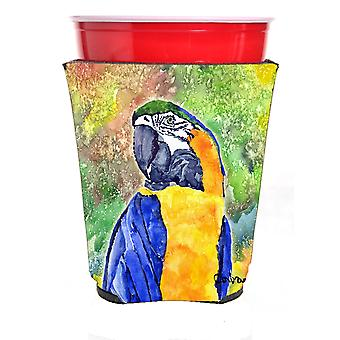 Carolines Treasures  8600-2RSC Parrot Head Yellow Red Solo Cup Hugger