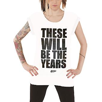Official Womens Alesso T Shirt These Will Be The Years Block Logo Roll Sleeve