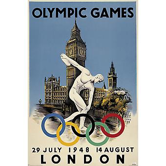 London 1948 Olympics Poster Poster Print
