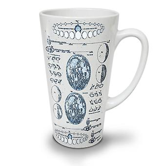Moon Phases NEW White Tea Coffee Ceramic Latte Mug 12 oz | Wellcoda