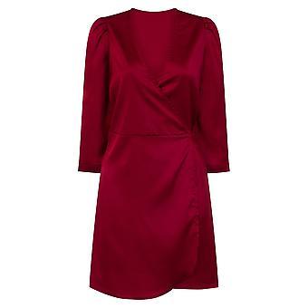 Girls On Film Womens/Ladies Wrap Satin Dress