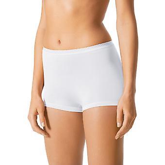 Mey 89206-1 Women's White Solid Colour Knicker Shorties Boyshort