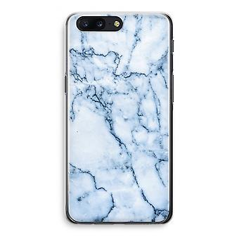 OnePlus 5 Transparant Case (Soft) - Blue marble