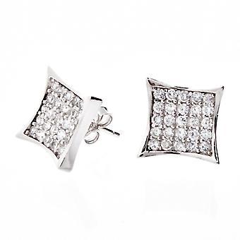 Sterling 925 Silver earrings - CRYSTAL 10 mm