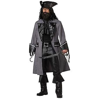 Blackbeard Pirate Deluxe Caribbean Captain Hook Book Week Mens Costume