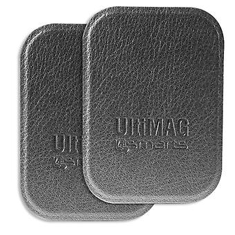 4smarts universal metal plates UltiMAG 2 x grey leatherette for mounting, etc.