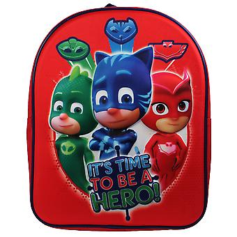 Boys PJ Masks EVA 3D Backpack Red 7 Litres