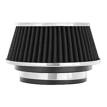 Spectre Performance 8161 Universal Clamp-On Air Filter: Round Reverse Tapered; 3 in/3.5 in/4 in (102 mm/89 mm/76 mm) Fla