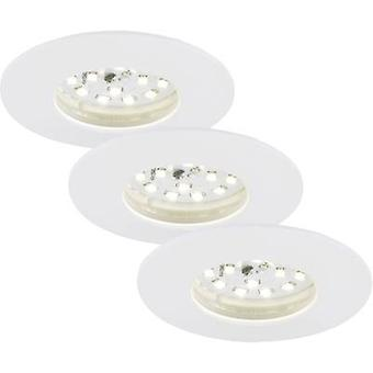 Briloner 7204-036 LED bathroom recessed light 3-piece set 15 W Warm white White