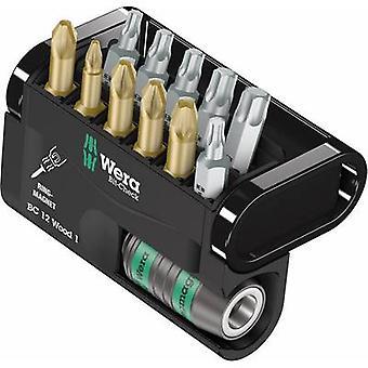 Wera Bit-Check 12 Holz 1 05057423001 Bit Set 12-teilige Pozidriv, Phillips, TORX Buchse