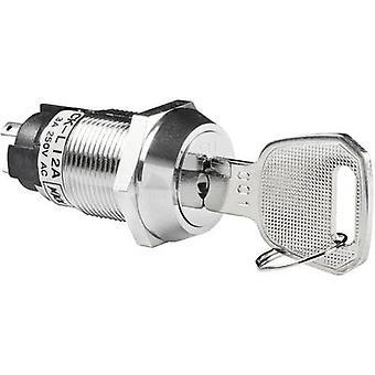 NKK Switches CKL12BFW01 Key switch 250 V AC 3 A 1 x On/On 1 x 90 ° 1 pc(s)