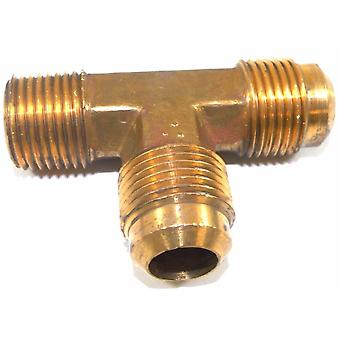 Big A Service Line 3-151908 Brass Pipe, Flare Tee Fitting 5/8