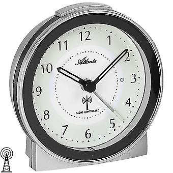 Atlanta 1855/19 alarm clock radio alarm clock silver anthracite with light snooze quietly