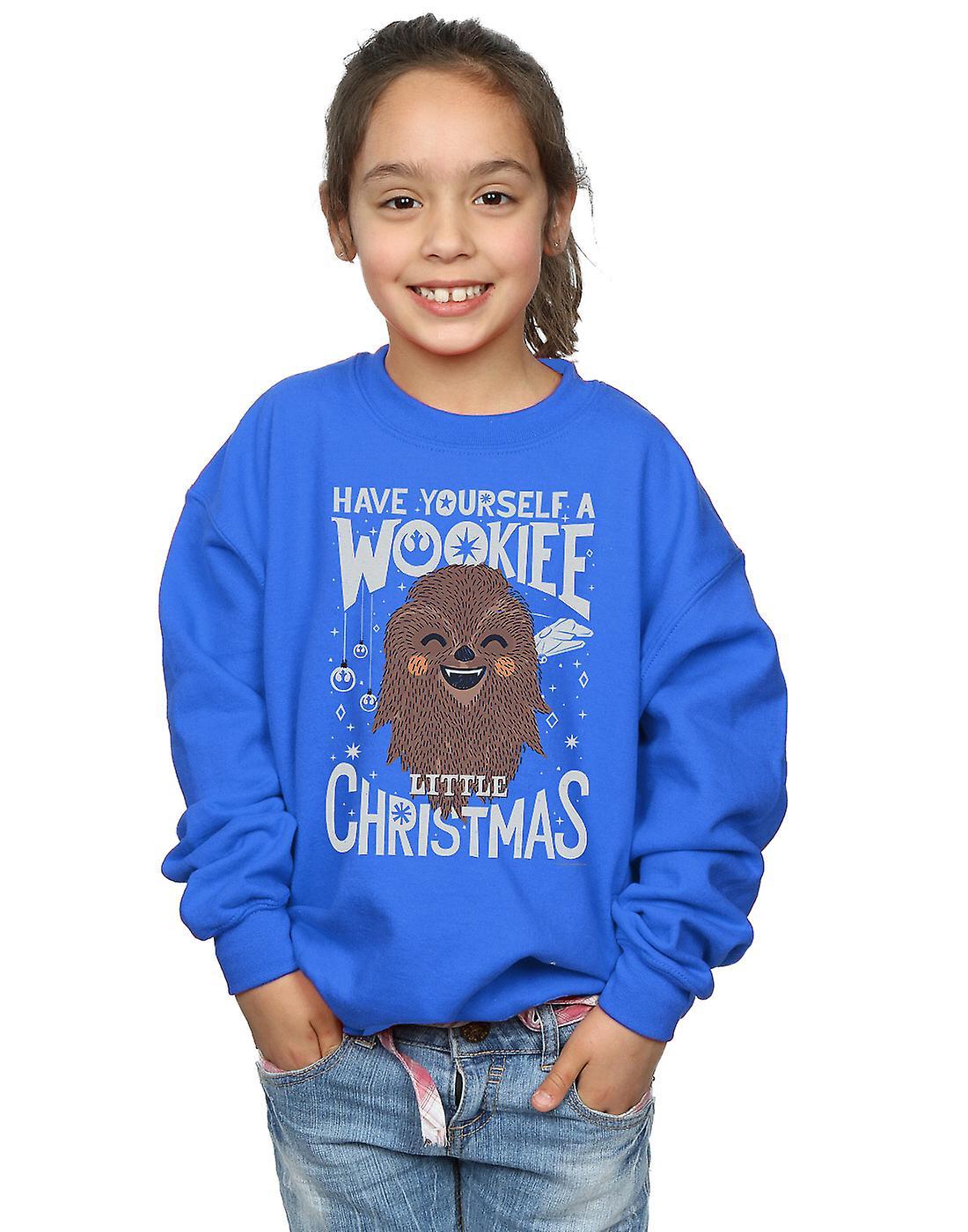 Star Wars Girls Wookiee Little Christmas Sweatshirt