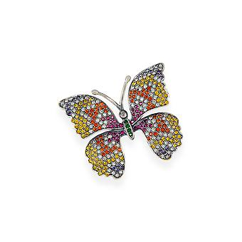 Multicolor brooch with crystals from Swarovski 7108