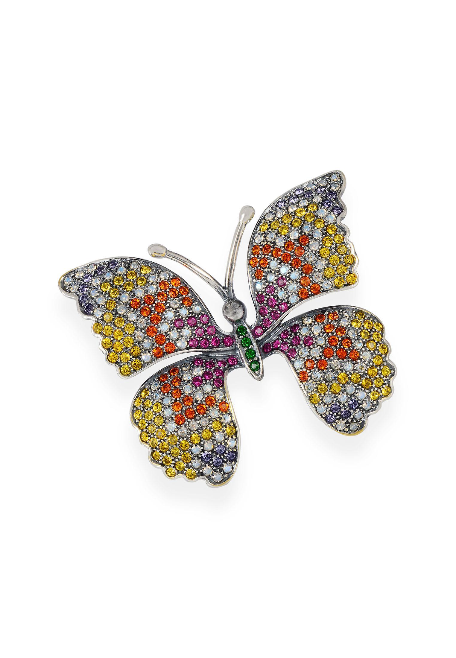 Multicolor brooch with crystals from Swarovski 7108