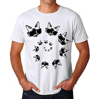 Spiral Cat Men's White T-shirt
