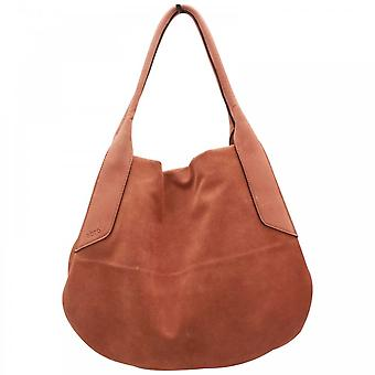Abro Soft Suede Leather Grab Handle Handbag