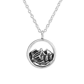 Mountain - 925 Sterling Silver Plain Necklaces - W37904x