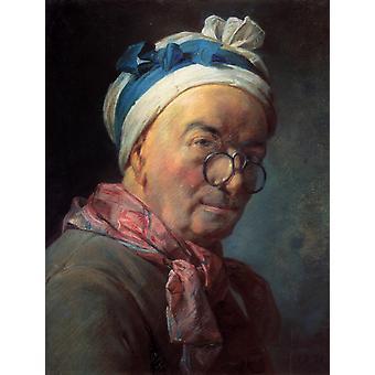Self-Portrait, Jean-Baptiste-Simeon Chardin, 46x 37.5 cm