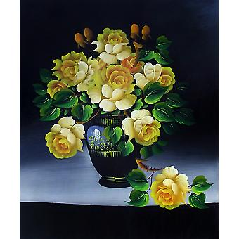 Roses, oil painting on canvas, 50x60 cm