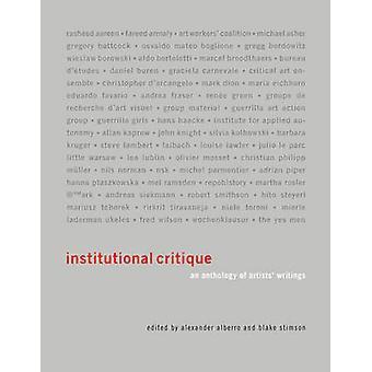 Institutionskritik - eine Anthologie der Artists Schriften von Alexanderplatz