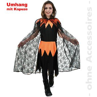 Witches costume spider Cape cloak Halloween child costume spider kids