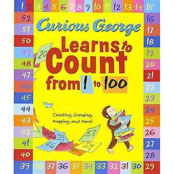 Nicke Nyfiken lär sig räkna från 1 till 100