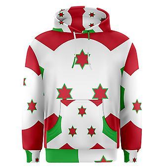 Burundi sublimert flagg Hoody