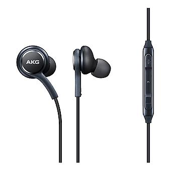 For Samsung S10 - Genuine Samsung Black Earphones Tuned by AKG Handsfree In-Ear Headset (EO-IG955) by i-Tronixs