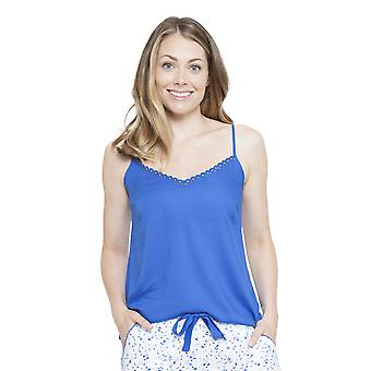 Cyberjammies 4136 vrouw Mia blauw pyjama's Top