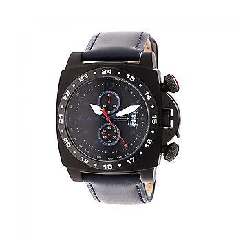 A 1 .1 -Carbon 14- Quartz Chronograph - Blue Leather