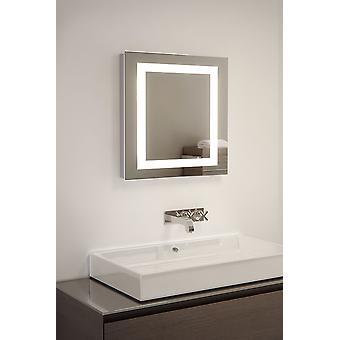 Kwadratowych golarka LED łazienka Mirror z kropli Pad & czujnik k158i