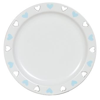 Aroma Cut Out Heart Candle Plate, Blue