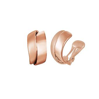 Eternal Collection Clevedon Rose Gold Tone Twist Half Hoop Clip On Earrings