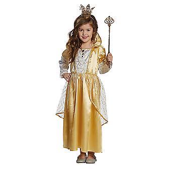 Vestido de princesa oro oro princesa para niños