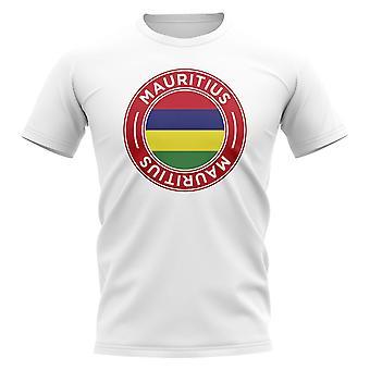 Mauritius Football Badge T-Shirt (Weiß)