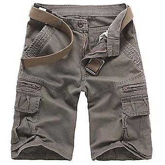 Allthemen Men's Szorty Solid Casual Bawełna Krótkie spodnie