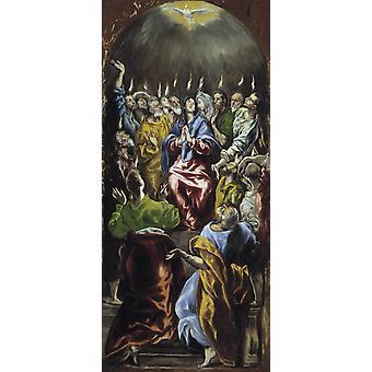 Pfingsten, El Greco, 80x36cm