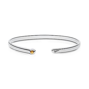 Baltimore Orioles Engraved Sterling Silver Citrine Cuff Bracelet