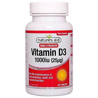 Naturaleza's Ayuda Vitamina D3 1000iu (25ug) Tabletas 90 (129330)