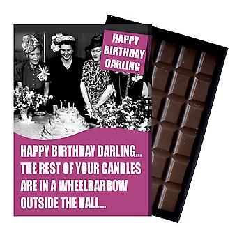 Funny Birthday Gift for Older Lady Pensioner boxed Chocolate Greeting Card Present CDL202