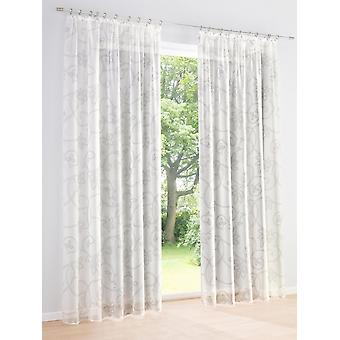 Heine Home 2set semi-transparent decostore curtain offwhite light gloss universal band