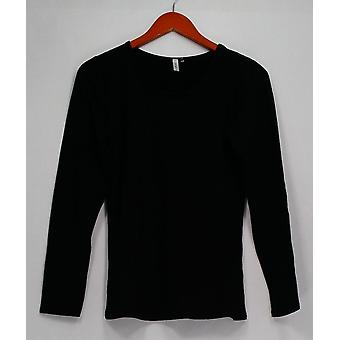 Legacy Top Cuddle Me Long Sleeve Scoop Neck T-Shirt Black A260464