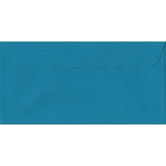 Petrol Blue Peel/Seal DL+ Coloured Blue Envelopes. 100gsm Swiss Premium FSC Paper. 114mm x 224mm. Wallet Style Envelope.